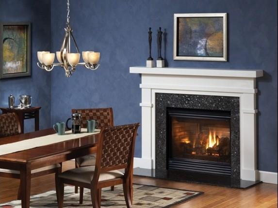 heatilator caliber gas fireplace dining room by