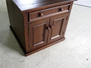 Square Old Pine Buffet Liquor Cabinet - Farmhouse ...