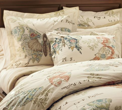 Butterfly Script Duvet Cover And Sham contemporary-duvet-covers-and-duvet-sets