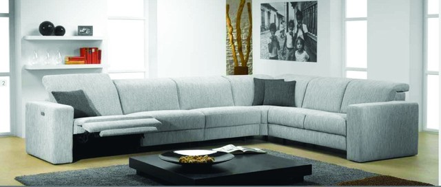 Fabric Sectional Sofas With Chaise And Recliner Artemis Fabric Sectional  Sofa With Electric Recliner By .