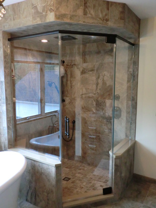 Do steam shower door have different hinges than a regular shower door - Different showers ...