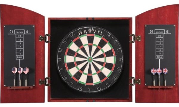 Harvil Solid Wood Dartboard Cabinet Set - Traditional - Darts And ...