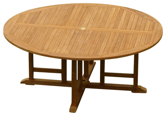 72 Round Dining Table Contemporary Outdoor Dining