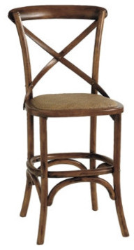 Constance Counter Stool | X Back Counter Stools traditional bar stools and counter stools