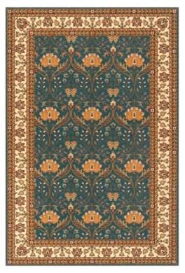 Momeni Persian Garden Fanfare PG-12 Oriental Rug - Teal Blue modern-rugs