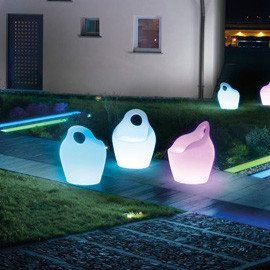 Domitalia | Babà-Jr RGB LED Light Armchair modern-outdoor-chairs