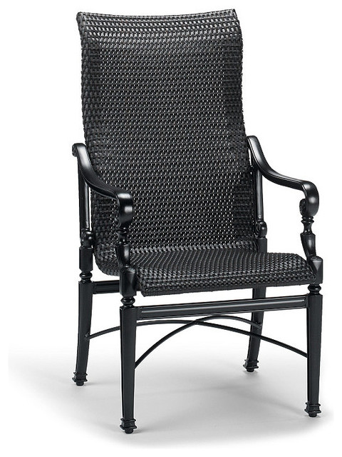 Set Of Two Carlisle Woven Outdoor Dining Chairs