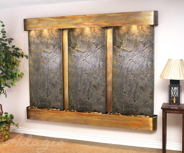 Slate wall mounted water features the deep creek falls - Wall mounted water feature ...