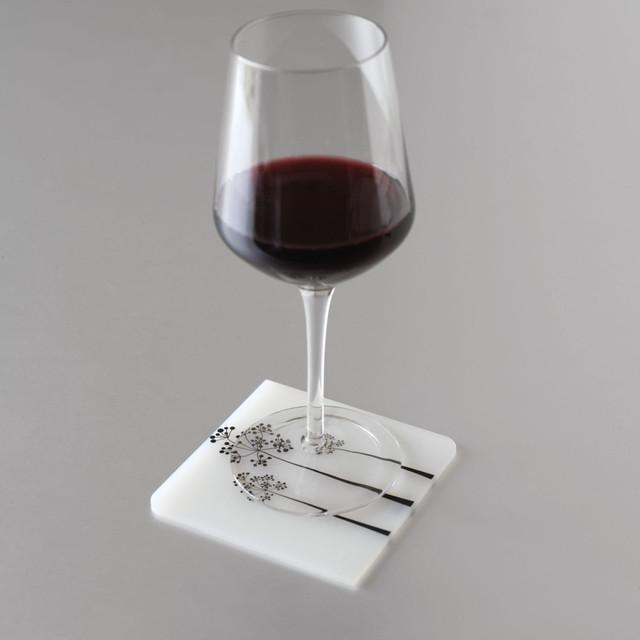 Modern-twist Coaster Notz - Tree of Us - Black/White modern-wine-and-bar-tools