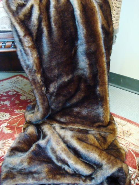 Mink Fur Throw  throws