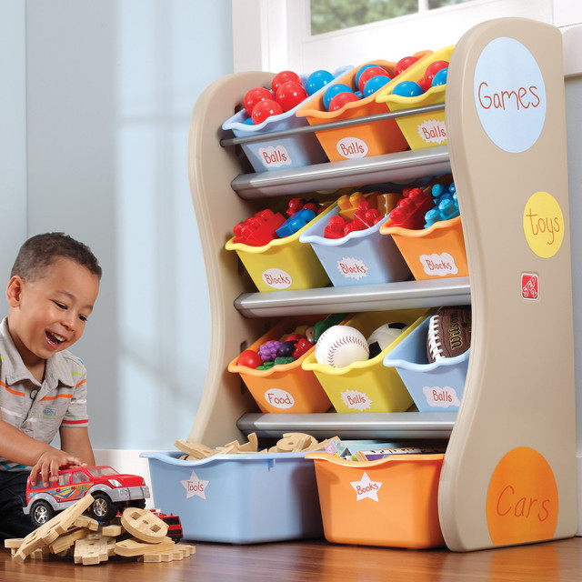 Step 2 Multi-Bin Organiser in Tropical - Contemporary - Toy Organizers - other metro - by Toys R Us