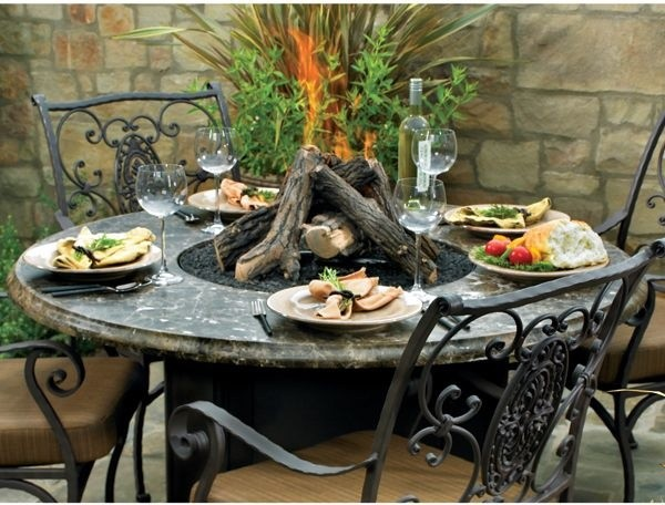 Avila Round Outdoor Fire Pit Table fire-pits