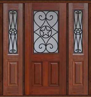 Prehung Side Lights Door 80 Fiberglass Austin Texas Star 1 2 Lite Eclectic