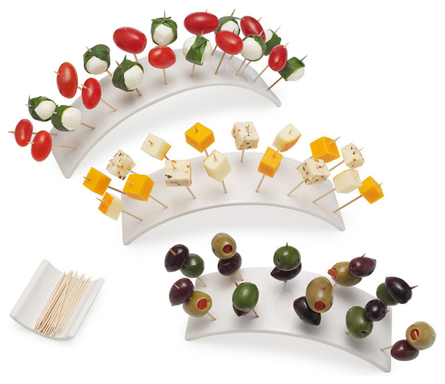 Rainbow Hors Doeuvres Set contemporary serveware