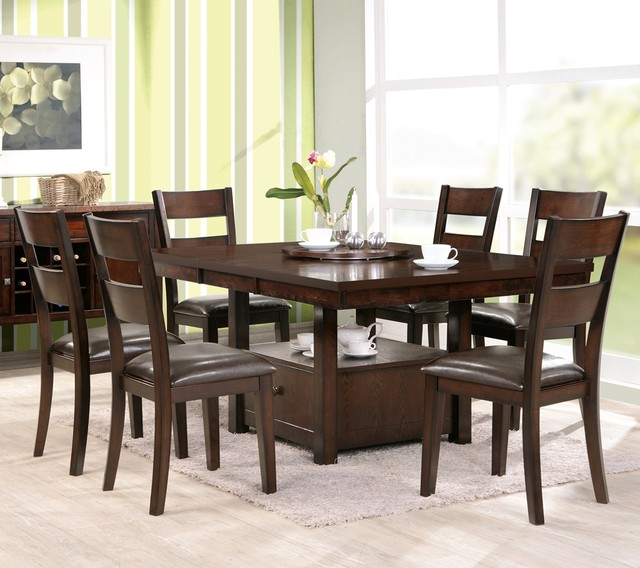 48 Inch Square Dining Room Set W Side Chairs In Esp Dining Tables