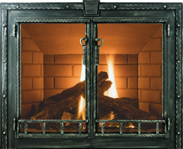 Blacksmith Stoll Fireplace Glass Door Custom Product Craftsman Fireplace Accessories By