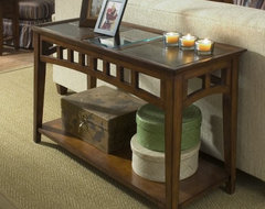 Riverside Andorra Sofa Table - Eden Burnished Cherry contemporary side tables and accent tables