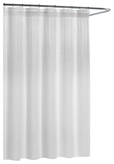 Kassatex Cortina Rhinestone Shower Curtain, White midcentury-shower-curtains