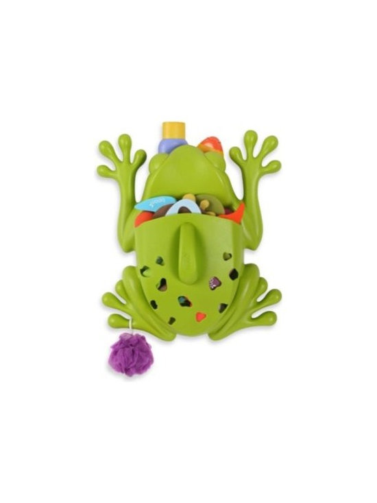 Boon - Boon Frog Pod Bath Storage Basket - This big frog is ready to leap into action when your tub is filled with toys! The Frog Pod helps with children's bath time clean-up, providing a drainable scoop for collecting and rinsing toys and a wall-mounted base for storing bath products.