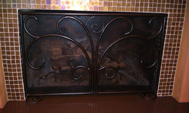 Fireplace Screen traditional-fireplace-accessories