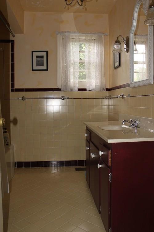 Help me update my 1940 39 s bathroom please for Help design my bathroom