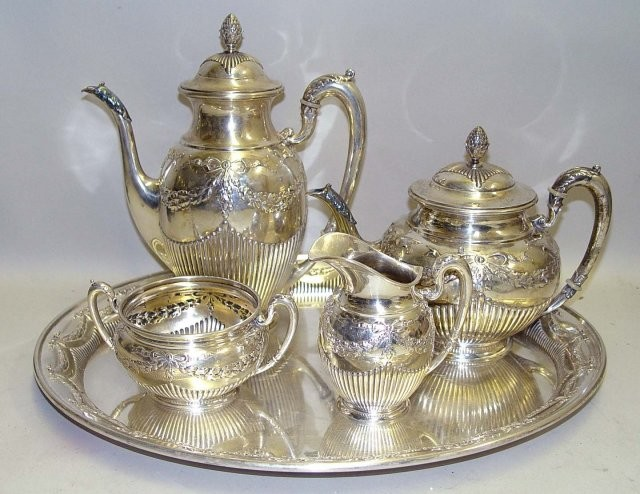Goldschmidt Silver Tea Set Service Traditional Tea