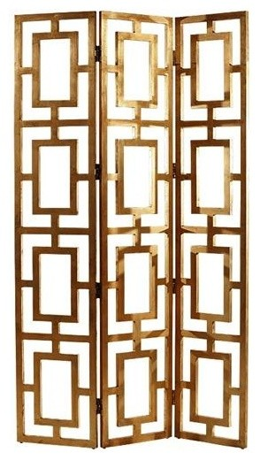 Gilded Wood Open-work Screen contemporary-screens-and-room-dividers