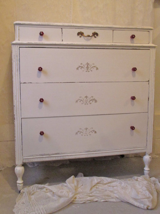 Hand Painted Vintage Dressers - ~~Parisian Ruby Custom Collection~~