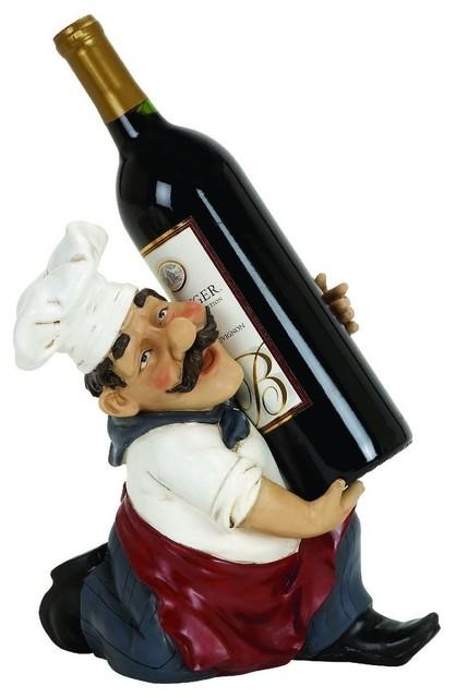Chef Wine Bottle Holder traditional-wine-racks