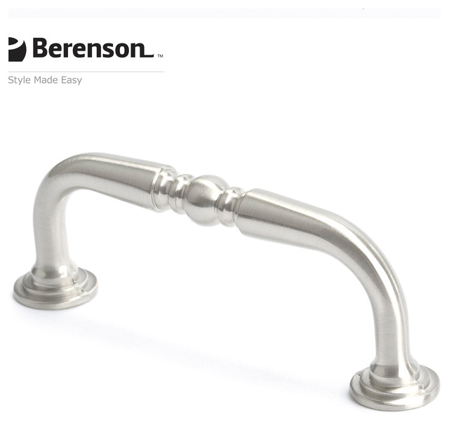 9886-1BPN-P Brushed Nickel Cabinet Pull by Berenson - Traditional - Cabinet And Drawer Handle ...