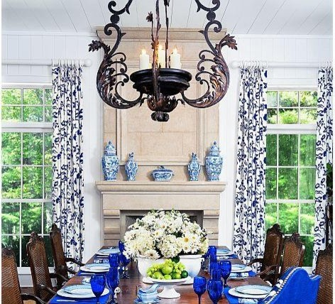 The Grand Provence With Custom Renaissance Overmantel- Francois & Co. traditional-dining-room