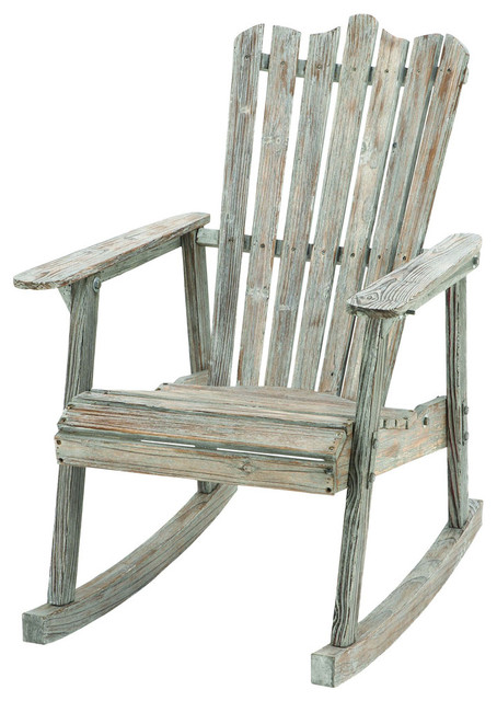 Old Look Old Fashioned Rocking Chair Farmhouse Rocking