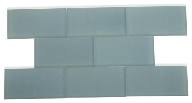 Loft Blue Gray Frosted Glass Tile Contemporary Tile By Tile Bar