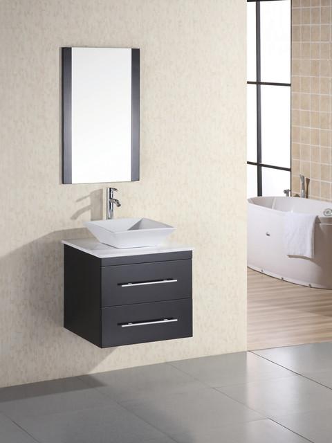 "24"" Portland Single Bath Vanity - Marble (DEC071C-W) modern-bathroom-vanities-and-sink-consoles"