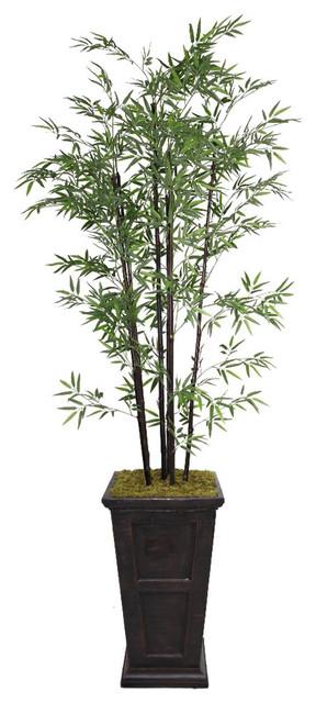Laura Ashley 91-inch Tall Black Bamboo Tree in Fiberstone ...