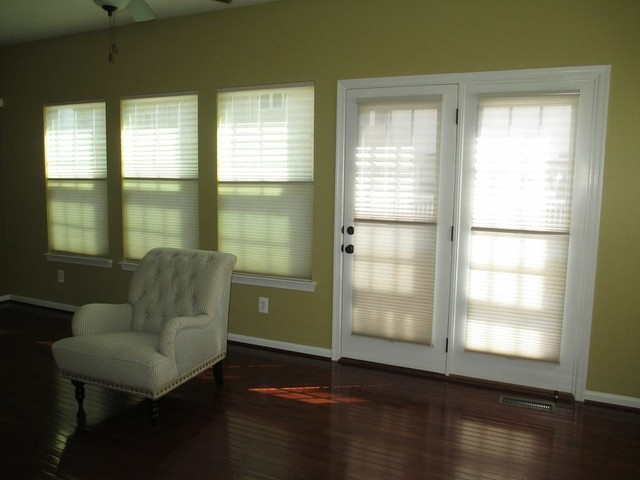 Before And After Traditional Cellular Shades Baltimore By Beltway Blinds