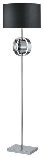 George Kovacs by Minka P746-077 1-Light Floor Lamp - Chrome - 16W in. contemporary-floor-lamps