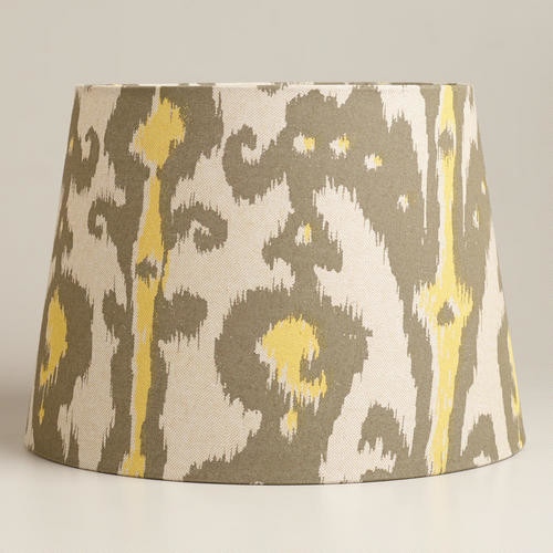 yellow and gray ikat table lamp shade contemporary lamp shades. Black Bedroom Furniture Sets. Home Design Ideas