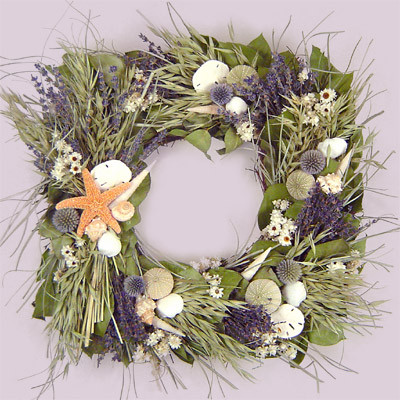 18 Beach Cottage Square Wreath tropical outdoor decor