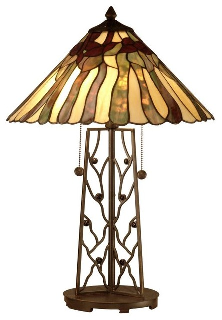 Dale Tiffany Table Lamp with Rectangular Base Multicolor - TT10597 contemporary-lighting