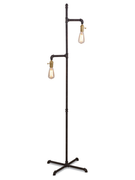 Bassett Mirror - Telestar Floor Lamp - This unique floor lamp has versatile looks and an adaptable build work together in this lighting to bring you a convenient solution to providing fashionable utility. This lamp will help brighten your look.