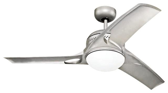 """Contemporary 38"""" Monte Carlo Mach Two Titanium Finish Ceiling Fan contemporary-ceiling-fans"""