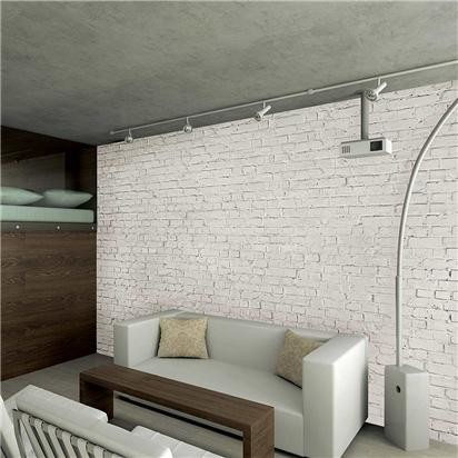Distressed white brick wallpaper mural contemporary for Cheap brick wallpaper