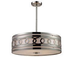 Zarah 5-Light Pendant in Polished Nickel contemporary-chandeliers
