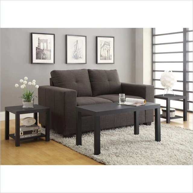 Altra Furniture Coffee Table And End Table 3 Piece Set In Black Finish