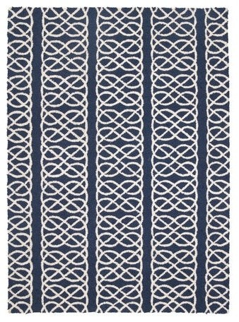 "Nautical Knot Navy Hook Rug 34X47"" contemporary-rugs"