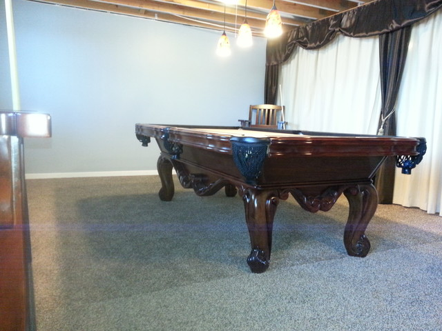 Pool Table Billiards Room traditional