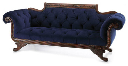 """Old Hickory Tannery - """"Paradise Blue"""" Sofa - Horchow - Sofas - by Horchow"""