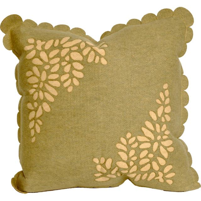 Liora Manne Shadow Leaf Sage Throw Pillow contemporary-decorative-pillows