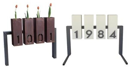 Lantern Metal Address Sign contemporary-house-numbers